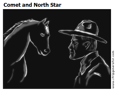 Comet and North Star