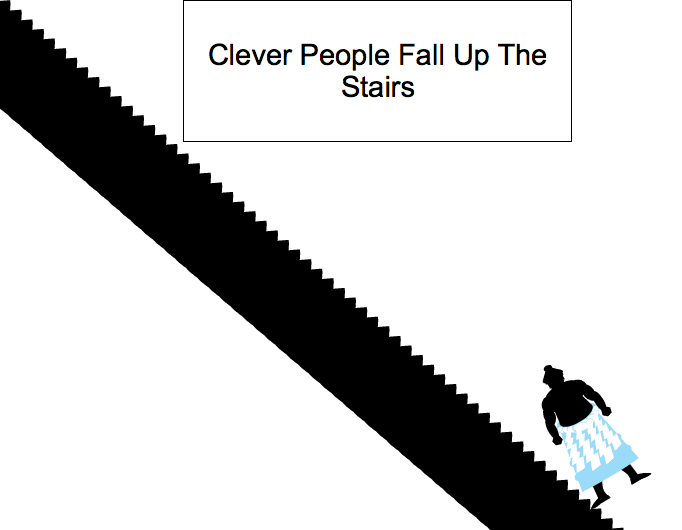 Clever People Fall Up The Stairs.