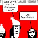 Eddie Visits Santa