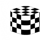 Cubic chessboard with full color alternance