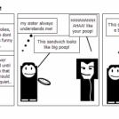 poop sandwich joke
