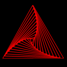 geometric form in triangle