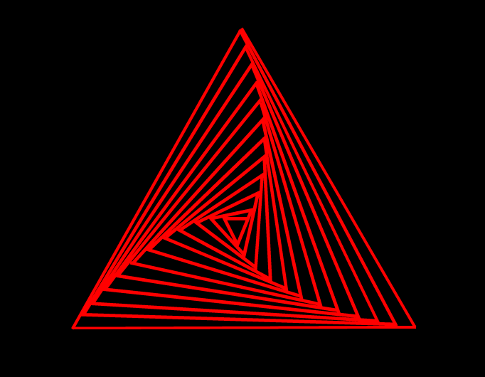 geometric form in triangle