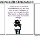 PSA (Public Service Announcement): A Bribed Attemp