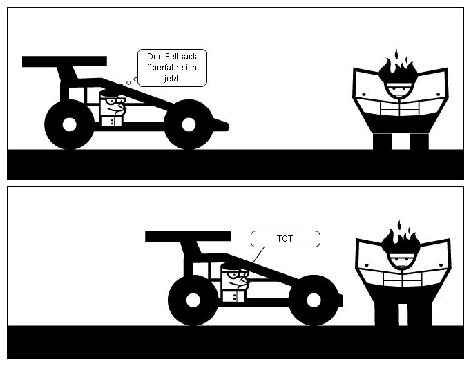 Auto will Mann überfahren