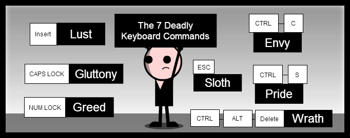The 7 Deadly Keyboard Commands