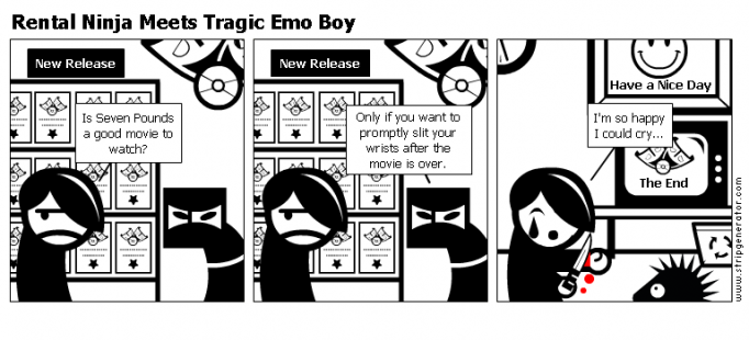 Rental Ninja Meets Tragic Emo Boy