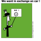 We want in exchange an car !