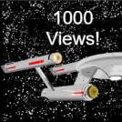 Star Trek strip 1000 views