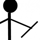 The mundane adventures of Stick Figure Man.