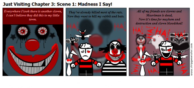 Just Visiting Chapter 3: Scene 1: Madness I Say!
