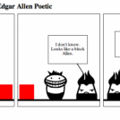A strange block visits Edgar Allen Poetic