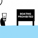 NO BOATING !