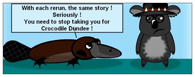 Aussies' - Koala Dundee