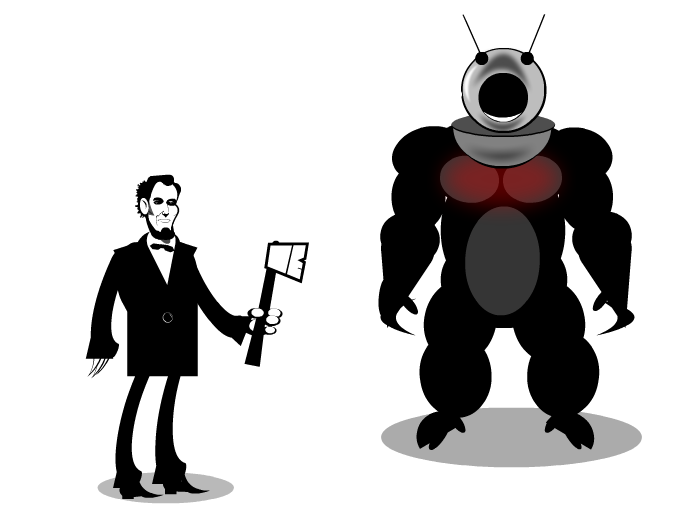 Ax Lincoln vs Robot Monster