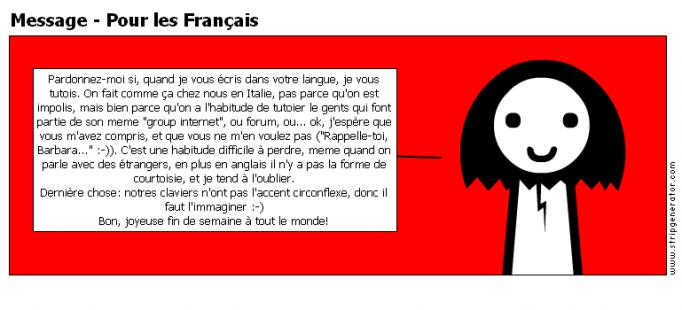 Message - Pour les Français