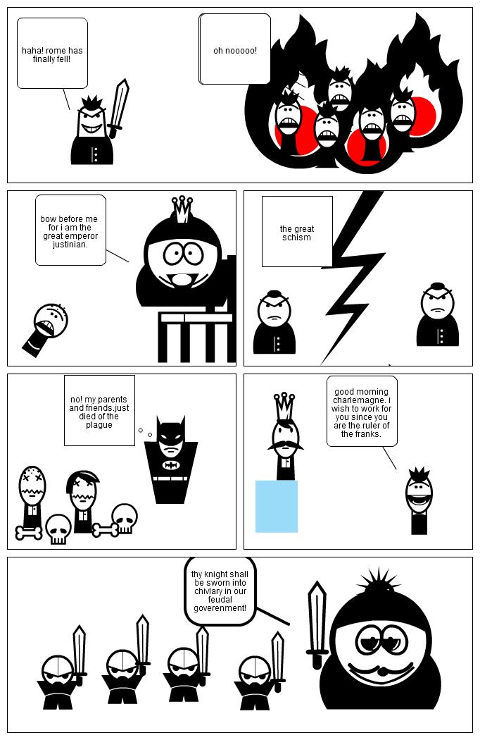 rome - feudal timeline comic
