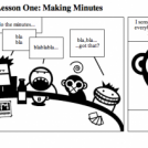 Project Management, Lesson One: Making Minutes