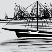 Sailboat Over Lake