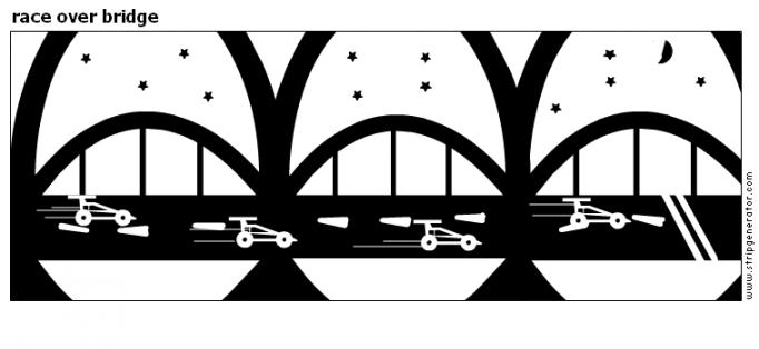 race over bridge