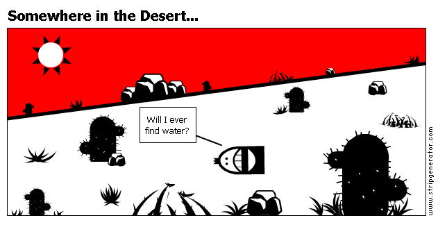 Somewhere in the Desert...