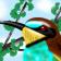 Erlatxoria zuhaitzean - A bee-eater in a tree