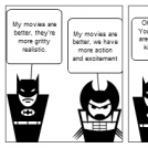 Superhero movie argument