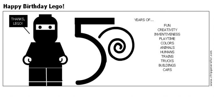 Happy Birthday Lego!
