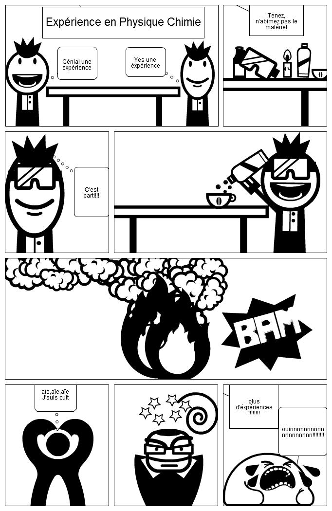 Expérience en physique chimie