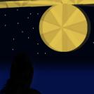En el cielo ... el sol... en la noche