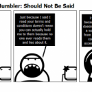 The Tech Support Mumbler: Should Not Be Said