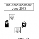 The Announcement: June 2013