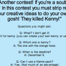 &quot;They Killed Kenny&quot; Contest