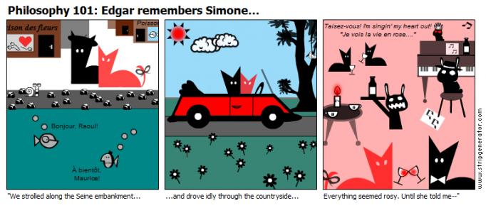 Edgar remembers Simone...