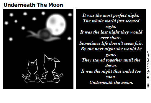 Underneath The Moon
