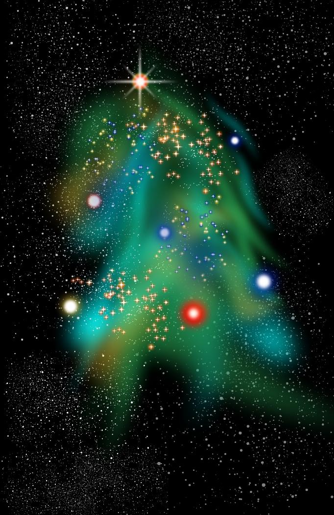 The Christmas Tree Nebula