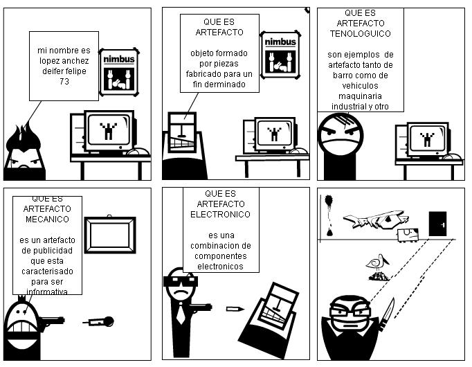 TIPOS DE ARTEFACTOS