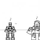 skelet vs robot