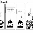 Edgar checking his E-mail.