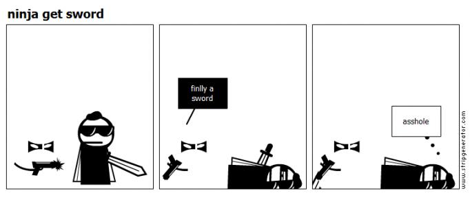 ninja get sword