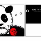 Romantic panda...