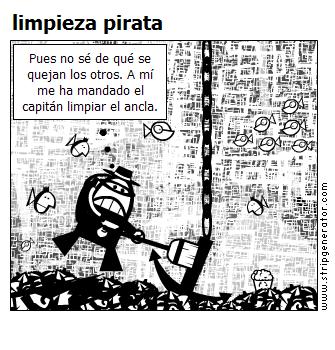 limpieza pirata