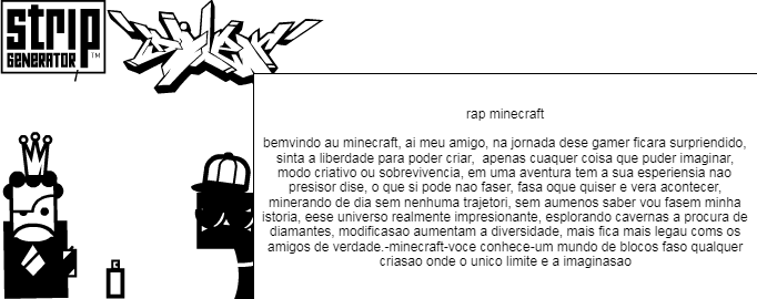 rap do minecraft
