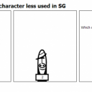 Competition of the character less used in SG