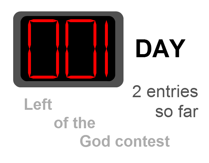 Deadline of God contest: 1 day left