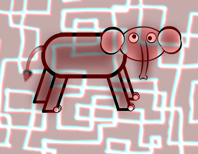 3D effecty elephant :D