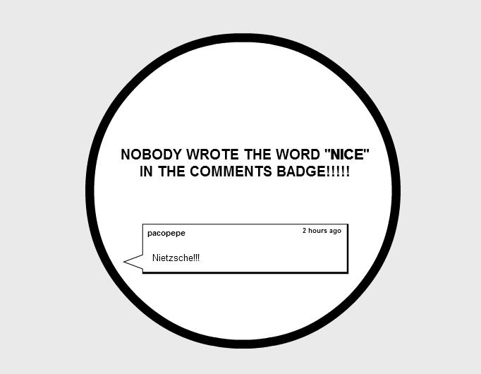 "No ""Nice"" badge"