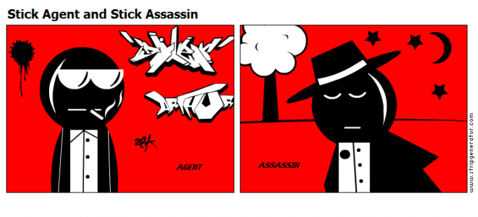Stick Agent and Stick Assassin