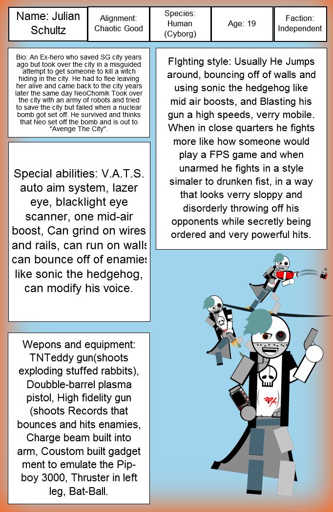 Fallout SG: Julian official character sheet