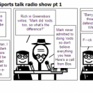 Angry White Golfers' Sports talk radio show pt 1